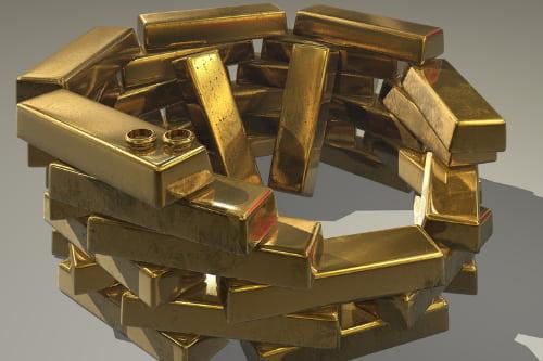 lingots d'or à Bruxelles